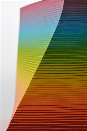 Stack of  colorful paper Stock Photo - Premium Royalty-Free, Code: 613-07459465