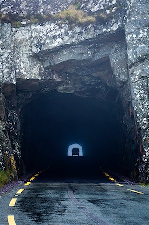 Car in a tunnel Stock Photo - Premium Royalty-Free, Code: 613-07459535