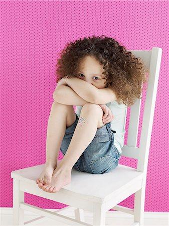 sad girls - Girl With Band-aid Stock Photo - Premium Royalty-Free, Code: 613-07492389