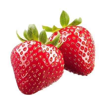 strawberries - Strawberries on White Background Stock Photo - Premium Royalty-Free, Code: 613-07596913
