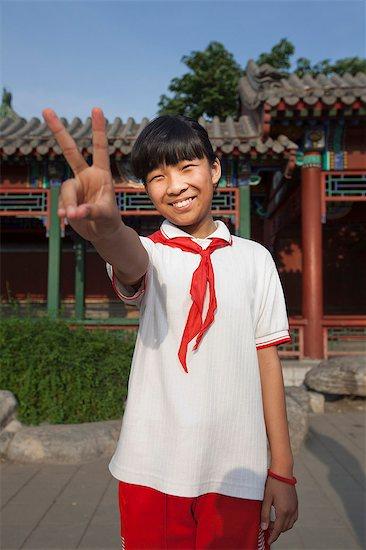 Chinese School Child Stock Photo - Premium Royalty-Free, Image code: 613-07596922