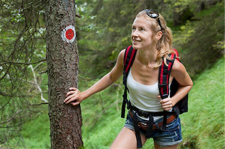 woman hiking in the Austrian Alps Stock Photo - Premium Royalty-Free, Code: 613-07593376