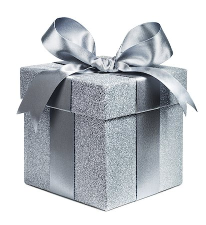 Silver Gift Stock Photo - Premium Royalty-Free, Code: 613-07734728