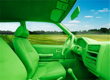 Green car, environment. (In landscape) Stock Photo - Premium Royalty-Free, Code: 613-07767780
