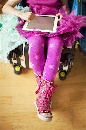 pantyhose kid - Digital princess Stock Photo - Premium Royalty-Free, Code: 613-07780402