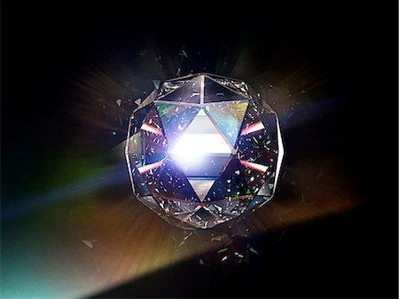 diamond - Diamond 01 Stock Photo - Premium Royalty-Free, Code: 613-07780479