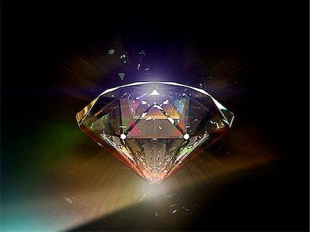 diamond - Diamond 02 Stock Photo - Premium Royalty-Free, Code: 613-07780480