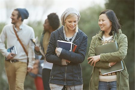Discussing their assignments Stock Photo - Premium Royalty-Free, Code: 613-08181066