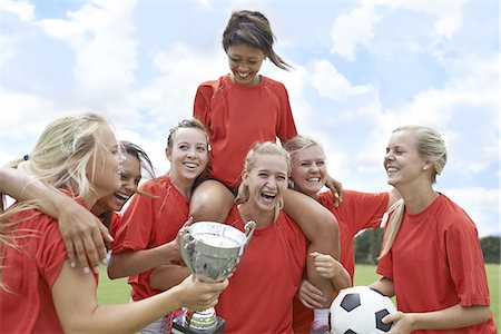 Celebrating their league win! Stock Photo - Premium Royalty-Free, Code: 613-08181236