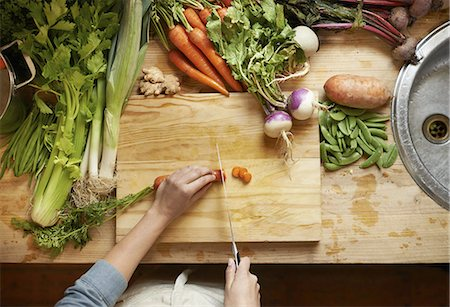 Only the freshest ingredients for this chef Stock Photo - Premium Royalty-Free, Code: 613-08234481