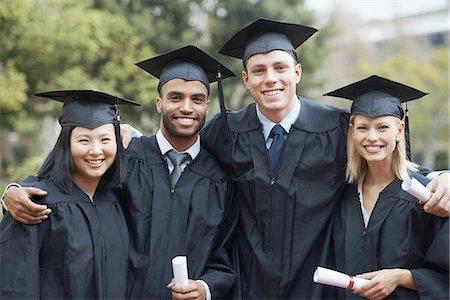Students and fellow graduates Stock Photo - Premium Royalty-Free, Code: 613-08235799