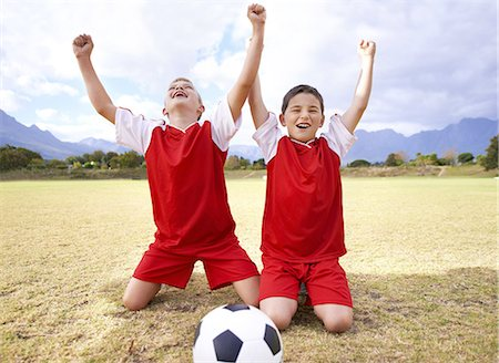 Celebrating their goal! Stock Photo - Premium Royalty-Free, Code: 613-08233063