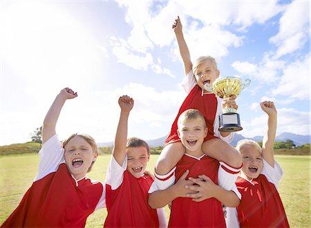They won! Stock Photo - Premium Royalty-Free, Code: 613-08233906
