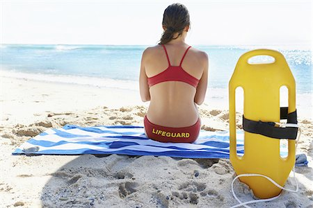 She's a dedicated lifeguard Stock Photo - Premium Royalty-Free, Code: 613-08276173