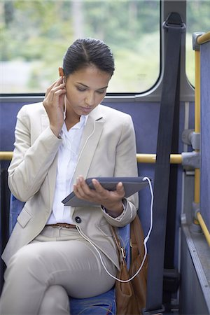 Business on the bus Stock Photo - Premium Royalty-Free, Code: 613-08390898