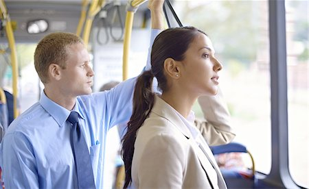 Riding the bus in style Stock Photo - Premium Royalty-Free, Code: 613-08390906
