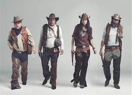 You won't find a more diabolical band of outlaws! Stock Photo - Premium Royalty-Free, Code: 613-08390965
