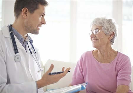 senior speaking to doctor - You're still in good health Stock Photo - Premium Royalty-Free, Code: 613-08391363