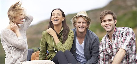 Surrounded by great friends Stock Photo - Premium Royalty-Free, Code: 613-08526139