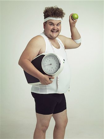 fat man exercising - It's the fit life for me Stock Photo - Premium Royalty-Free, Code: 613-08526456
