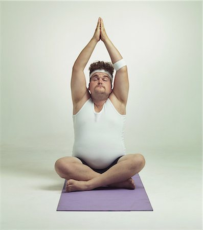 fat man full body - Being fit is easy especially with yoga Stock Photo - Premium Royalty-Free, Code: 613-08526457
