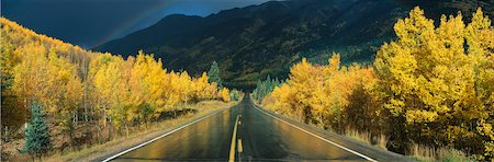 Road after Rain, Colorado, USA Stock Photo - Premium Royalty-Free, Code: 613-01188915