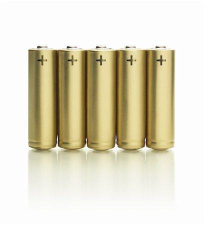 Row of batteries Stock Photo - Premium Royalty-Free, Code: 613-01191042