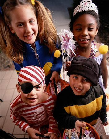 Children on Halloween Stock Photo - Premium Royalty-Free, Code: 613-01396116