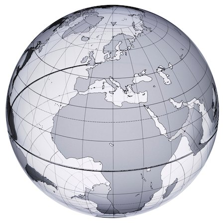 Globe with Europe and Africa prominent Stock Photo - Premium Royalty-Free, Code: 613-01392593
