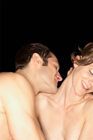 Naked couple embracing Stock Photo - Premium Royalty-Free, Code: 613-01522931
