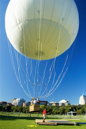 Hot air balloon taking off, Boston, Massachusetts, USA Stock Photo - Premium Royalty-Free, Code: 625-00804505