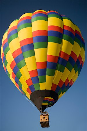 Low angle view of a hot air balloon flying in the sky Stock Photo - Premium Royalty-Free, Code: 625-00801490