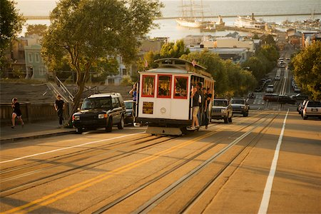 People traveling in a cable car, San Francisco, California, USA Stock Photo - Premium Royalty-Free, Code: 625-00801726