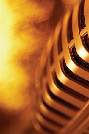 Extreme close-up of microphone Stock Photo - Premium Royalty-Free, Code: 625-00801779