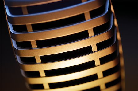 Extreme close-up of microphone Stock Photo - Premium Royalty-Free, Code: 625-00801795