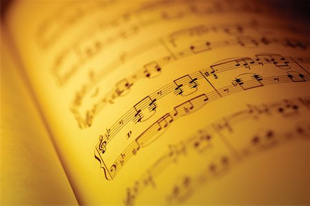 Close-up of sheet music Stock Photo - Premium Royalty-Free, Code: 625-00801798