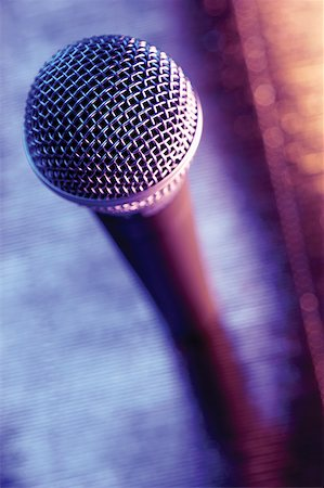 Close-up of microphone Stock Photo - Premium Royalty-Free, Code: 625-00801811