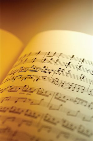 Close-up of sheet music Stock Photo - Premium Royalty-Free, Code: 625-00801826