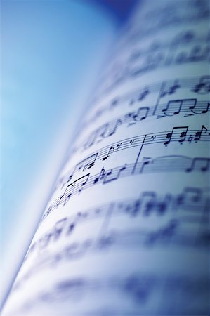 Close-up of sheet music Stock Photo - Premium Royalty-Free, Code: 625-00801828