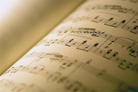 pic music note symbol - Close-up of sheet music Stock Photo - Premium Royalty-Free, Code: 625-00801831