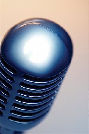Close-up of microphone Stock Photo - Premium Royalty-Free, Code: 625-00801840