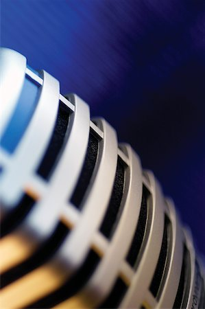 Extreme close-up of microphone Stock Photo - Premium Royalty-Free, Code: 625-00801897