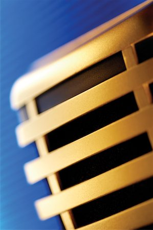 Extreme close-up of microphone Stock Photo - Premium Royalty-Free, Code: 625-00801902