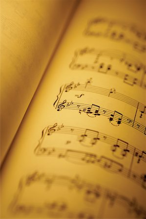 Close-up of sheet music in book Stock Photo - Premium Royalty-Free, Code: 625-00801934
