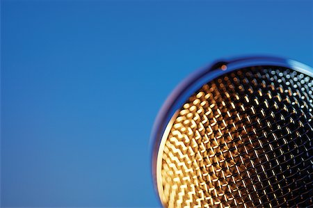 Extreme close-up of microphone Stock Photo - Premium Royalty-Free, Code: 625-00801974