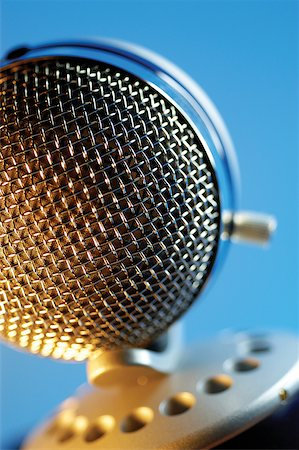 Extreme close-up of microphone Stock Photo - Premium Royalty-Free, Code: 625-00801973