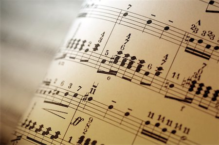 pic music note symbol - Close-up of sheet music Stock Photo - Premium Royalty-Free, Code: 625-00802004