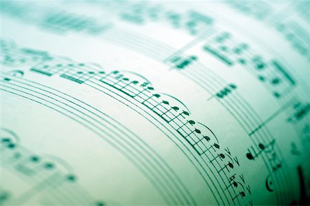 pic music note symbol - Close-up of sheet music Stock Photo - Premium Royalty-Free, Code: 625-00802000
