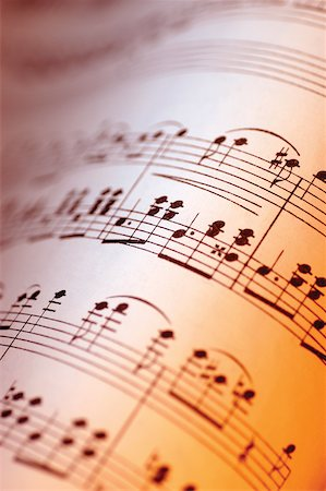 Close-up of sheet music Stock Photo - Premium Royalty-Free, Code: 625-00802001