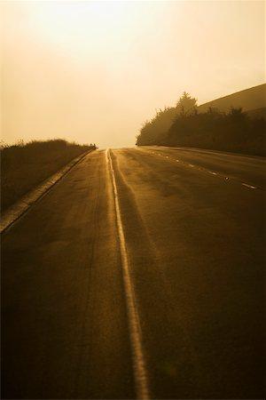 road landscape - Road passing through a landscape Stock Photo - Premium Royalty-Free, Code: 625-00802236